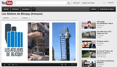 Tellitweb réalise une vidéo d'entreprise, en trois langues, pour les ateliers de Blicquy